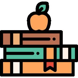 کتابخواری سه کتاب و یک سیب