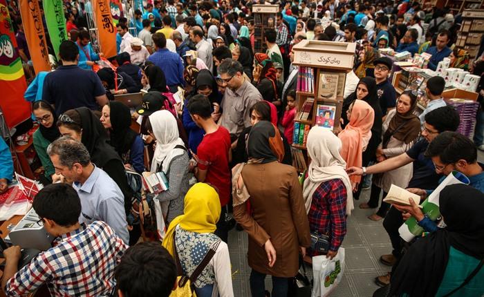 شلوغی نمایشگاه کتاب تهران