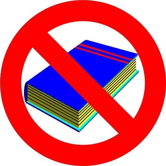 کتاب خواندن، ممنوع است!